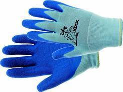 CHUNKY rukavice nylon. latex. dl modrá 4,5  (9227)