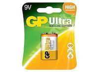 Baterie alkalická 9V, GP Ultra 6LF22