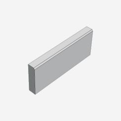 Zahradní obrubník ABO 7-20 písková (500x50x150)