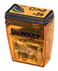 Bit 25 mm - Pz2  Dewalt   (25ks/Tic tac krabička) DT71521-QZ