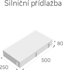 Přídlažba ABK 50x25x8cm přírodní (64ks/paleta)