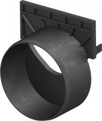 ACO SELF čelní stěna s odtokem DN100, PP, černá (319289)