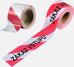 Bariérová páska červeno-bílá 100mmx100m