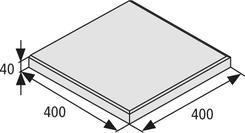 BEST dlažba terasová tl.4cm, 40x40cm standard přírodní