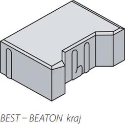 Best dlažba BEATON kraj tl.6cm červená