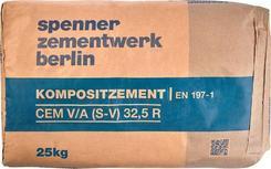 Směsný cement CEM V/A 32,5 R  25kg Zementwerk