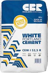 Portlandský bílý cement CEM I 52,5 R 25kg