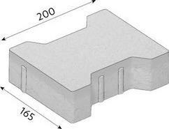 CSB dlažba KOST rovná tl.8cm šedá, 20x16,5 cm
