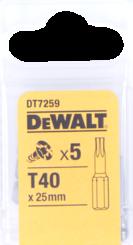 Bity Torx T40 – 25mm (5ks/bal) DT7259-QZ