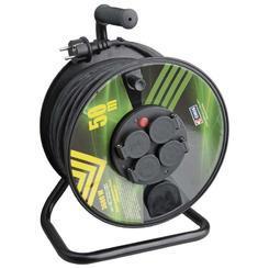 Kabel prodluž.50m/230V, cívka 4 zásuvky guma IP44
