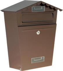 Schránka poštovní 290x360x105mm - hnědá