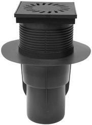 Kanalizační vpusť spodní KVS DN 110 černá (528)