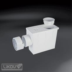 Geiger šedý s boční výpustí (mokrý) 80(100)/100(110)mm  695.8010001
