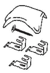 Rozdělovací hřebenáč drážkový HO včetně příchytek a vrutu Glazura červenohnědá