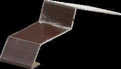Balkonová spojka 32mm hnědá