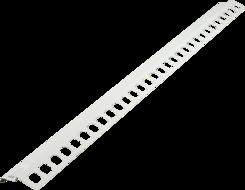 Balkónový profil přímý 2m bílý