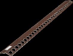 Balkónový profil přímý 2m hnědý