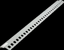 Balkónový profil přímý 2m šedý