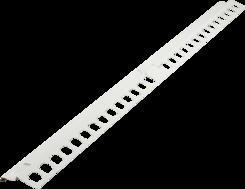 Balkónový profil rohový 1x1m bílý