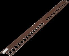 Balkónový profil rohový 1x1m hnědý
