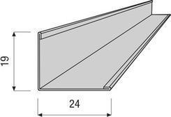 Profil VENTATEC obvodový L 19x24 3m