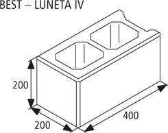 Best zdicí tvarovka LUNETA IV v.20cm žlutá