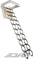 Schody stahovací LUSSO obyč. 1000x700 sv.výška 2450-2740