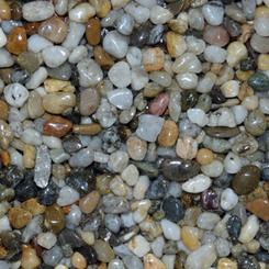 Říční kamínky 25kg oblý 4-6mm pro kamenný koberec NEW