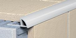 Ukončovací profil s přepážkou - oblý PVC 6p světle šedá 2,5m