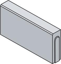 Best obrubník LINEA I v.25cm 50x8cm červený
