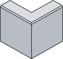 Best obrubník LINEA II rohová 90 vnější, v.25cm přírodní