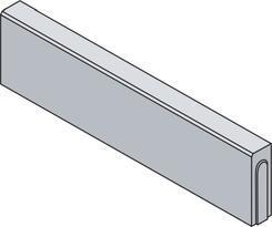 Best obrubník LINEA II v.25cm 100x8cm červený