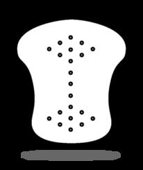 Uzávěra hřebene keramická Glazura černá