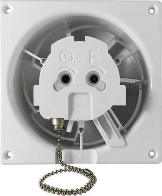 Ventilátor stěnový axiální s časovačem 100 mm AV DRIM T 0945