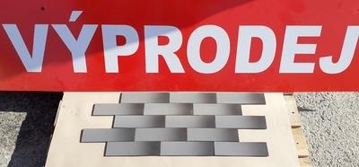 Obklad Grafit hladký 24,5x6,5 cm  (výprodej)