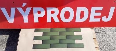 Obklad Cien zelená 24,5x6,5 cm  (výprodej)