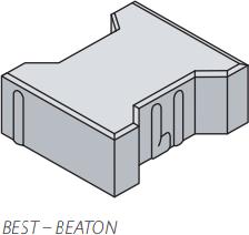 Betonová zámková dlažba Best BEATON tl.6 cm skladba přírodní