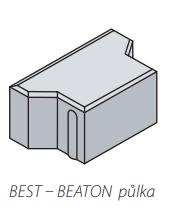 Betonová zámková dlažba Best BEATON půlka tl.8 cm červená