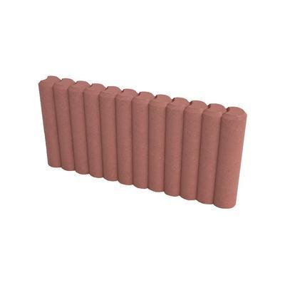 Obrubník palisádový DITON 50x6x25 červený