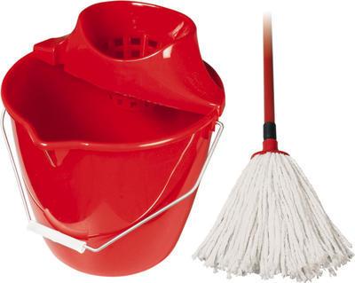 Úklidová soupava mop bavlněný Spokar 160 g červený