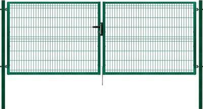 Brána PILOFOR dvoukřídlá, 4118x1245 mm Zn+RAL 6005