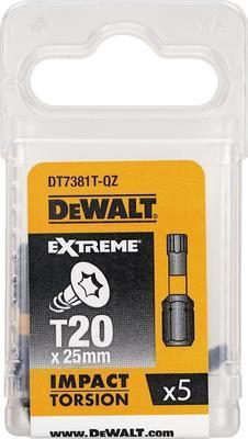 Bit šroubovací Dewalt Extreme Torsion T20 25 mm 5 ks DT7381T