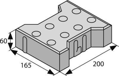 Betonová zámková dlažba Best BEATON pro nevidomé tl.6 cm červená