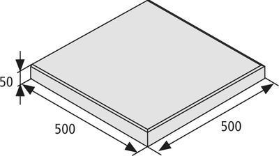 Terasová dlažba Best tl. 5 cm, 50x50 cm standard přírodní