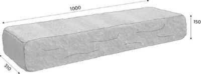 CSBETON Naturblok schod 15cm naturcolor caoba