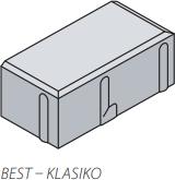Betonová zámková dlažba Best KLASIKO 20x10 cm tl.8cm antracit