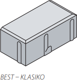 Betonová zámková dlažba Best KLASIKO 20x10 cm tl.8 cm pískovcová