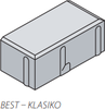 BST dlažba KLASIKO 20x10cm tl.6cm antracit - 1/2