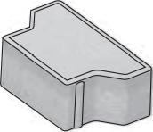 Betonová zámková dlažba CSBETON KOST tl.8 cm okr standard půlka neskladba