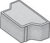 Betonová zámková dlažba CS-BETON KOST tl. 10 cm  půlka červená10x165 cm